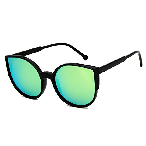 Z-P Grils Classic Retro Fashion Cat's Eye Color Film Lens Reflective UV400 Sunglasses 55MM