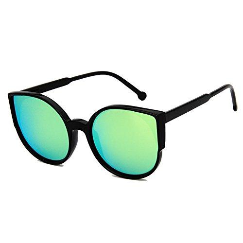 Z-P Grils Classic Retro Fashion Cat's Eye Color Film Lens Reflective UV400 Sunglasses 55MM