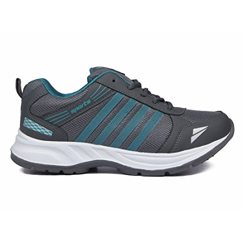 Asian shoes Men's Running Shoes Grey Firozi Mesh 8 UK/Indian