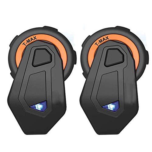 KCaNaMgAl Motorradhelm Bluetooth-Headset, 1500 m 6-Personen-Motorrad Walkie-Talkie Bluetooth-Headset Stereo,Two
