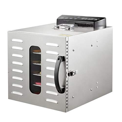 Haushaltsnahrungsmittelkonservierungsmaschine Berührungssteuerpult-Frucht-Dörrgerät, 6-Schicht Behälter-Edelstahl-Temperaturüberwachung kann Gemüse- und Frucht-Fleisch-Stereo- Trockner zeitlich abgest