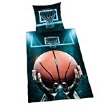 Herding Young Collection Basketball Bettwäsche-Set, Baumwolle, Mehrfarbig, 135 x 200 cm