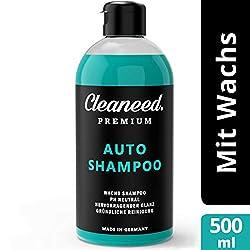 Cleaneed Premium Autoshampoo mit Wachs - Made IN Germany - pH-Neutral, Rückstandsfrei, Schonende Reinigung, Starke Schaumbildung