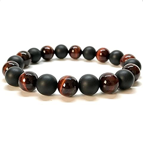 GOOD.designs Natural Onyx / Lava Stone Bead (10mm) Wrist Bracelet