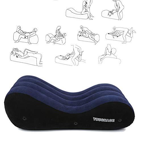 Sex-Kissen-Liebes-Kissen-aufblasbares Sofa-Taillen-Kissen-Matten-S-Kurve verwendbar für Taillen-Mehrzweckfalten-Kissen,A