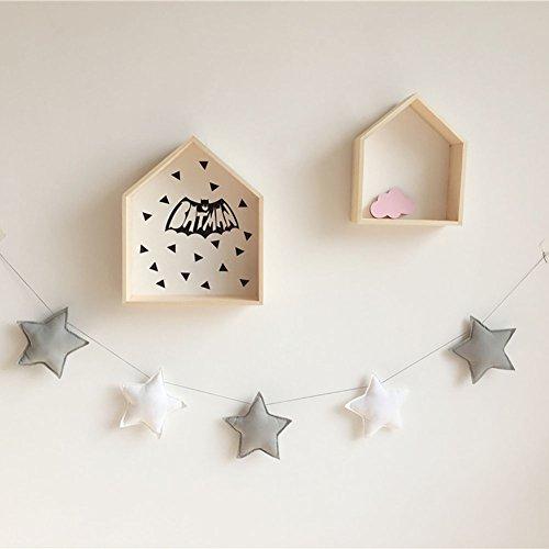 Wingbind 2M Star String, Nordic Prinzessin Stil Banner Anhänger, Home Schlafzimmer/Party/Hochzeit/Geburtstag/Kinderzimmer/Cradle/Baby Dusche hängende Dekoration