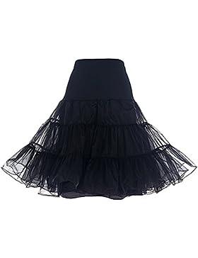Kinikiss Mujer Faldas Retro Vintage Rockabilly Midi 50s Vestido