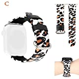 xue binghualoll Banda Intercambiable con Estampado de Leopardo para la Serie Apple Watch 4/3/2/1 38/40 mm