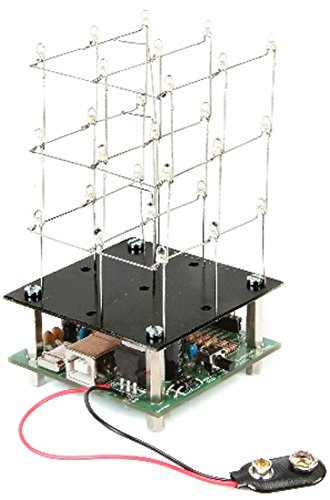 Velleman minikits 3D LED Cube, blanc