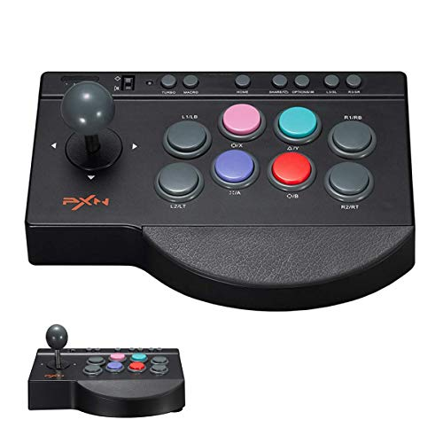 QKa Arcade-Joystick, Game-Controller Für Android-Windows-PS3 / PS4-Switches, One-Button-Programmierung, Kleiner Acht-Wege-Joystick Und Acht Große Aktionstasten