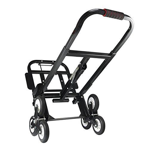 Aluminio de Carro Escaleras, Escalera portátil Carretilla de Mano Carro 330 libras/150kg,...