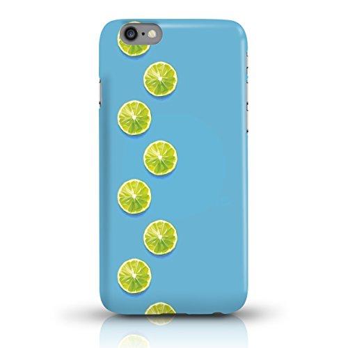 """JUNIWORDS Handyhüllen Slim Case für iPhone 6 / 6s - Motiv """"Hirsch mit Triangel-Muster"""" Schutzhülle für Ihr Smartphone Limette Design 2"""