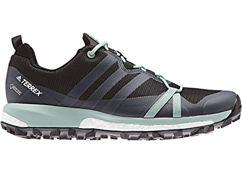 adidas Terrex Agravic GTX W Carbon Grey Heather Ash Green 42.5 grau schwarz türkis
