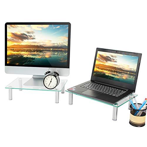 las 2er Set Monitorständer Notebookständer Laptopständer Computertisch Bildschirmständer 39 x 24 cm Schreibtisch OrganisationCM2004 ()