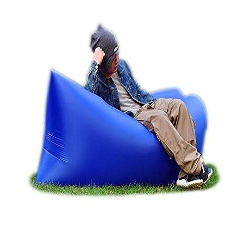 Trumpo Canapé/chaise longue gonflable, étanche, pliable et portable pour l'extérieur En nylon, bleu