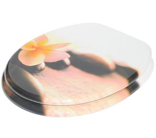 Sanilo WC Sitz mit Absenkautomatik Beautiful | hochwertige Oberfläche | einfache Montage | stabile Scharniere   A164672