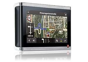 Falk Vision 700 Navigationssystem inkl. TMCpro (10,9 cm Display, Kartenmaterial Europa 43,Premium Karten Dienst, Sprachsteuerung, Bluetooth, 3D-Gelände, Stadt Aktiv, Lernende Navigation)