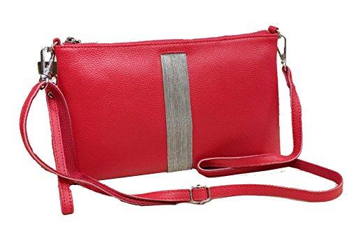 Clutch In Pelle Ms. Red