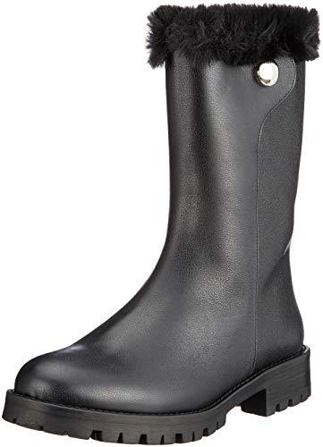 HUGO Damen Uptown Gr Biker Boots, Schwarz (Black 001), 40 EU