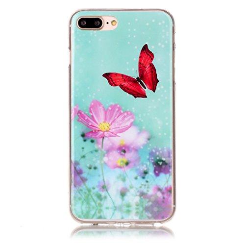 iPhone 7 Plus Hülle, Apple iPhone 7 Plus Hülle, Gift_Source [ Batman ] Schutz-Hülle Silikon TPU transparent ultra-slim Case Cover ultra-thin durchsichtig für Apple iPhone 7 Plus 5.5 inch E1-Lotus