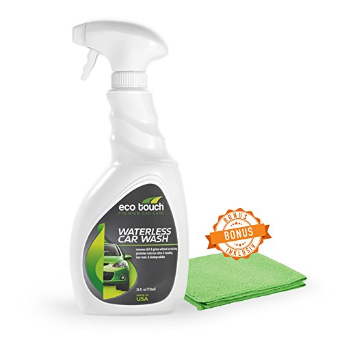 Auto Clothes without water - Waterless Car Wash - Drying clothes with Free microfiber cloth - Bio Dry cleaning - Intensive car without washing water - Professional Spray, Varnish - Cleaner Spray from 500 ml bottle