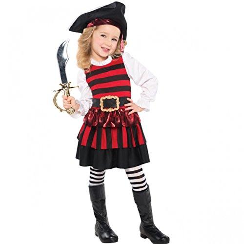 toddler girls little lass pirate costume medium age 46 years