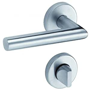vachette assa abloy set of 2 door handles on rose linox 493 6450 diy tools. Black Bedroom Furniture Sets. Home Design Ideas