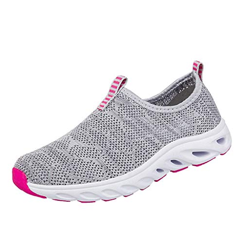 Chaussure de Course pour Femme Discount Baskets de Running Fitness Sport Air Respirant Mesh Chaussette Femme Sneakers Outdoors Jogging Formateurs