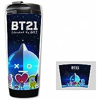 JHion BTS BT21 - Botella de Agua para Niños (12oz), Diseño de Caricatura