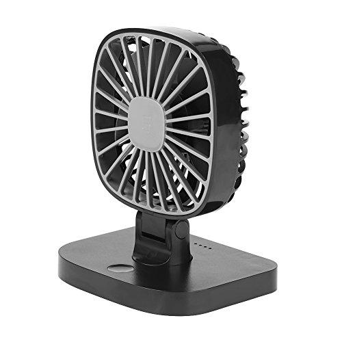 Qiilu 5v Universal Mini Auto USB Fan, 3 Gang Schnelle Kühlung Super Leise 360 ° Rotation Tragbarer Lüfter für Fahrzeug Home Office Dest Tabelle(Swarchz) (Dc Brushless Fan Motor)