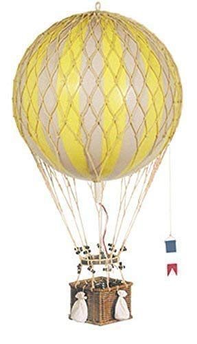 Étoile hélium ballon jaune et blanc, royal aviation, 32 cm
