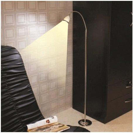 LED Floor Light - Illumina - Neutral White Light -Chrome- Black