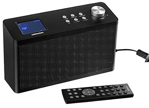 MEDION P85060 Küchen Internet Radio, DAB+ und UKW Empfang, Steuerung per App, WLAN, 2 x 2.8 Watt RMS,
