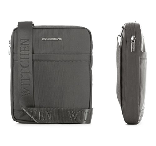 WITTCHEN Umhängetaschen Tasche, 3,5x25x20.5 cm, Grau, Polyester, Handmade, 29-4P-101-8 Grau