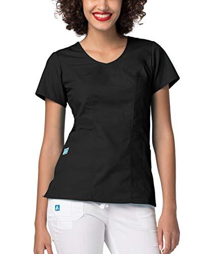 Kostüm Womens Krankenschwester Scrub - Adar Medizinische Uniformen Frauen Top Krankenschwester Krankenhaus Berufskleidung 2636 Farbe: BLK | Größe: XL