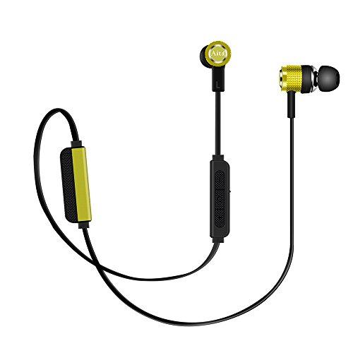 BluetoothKopfhörer, Aita BT72 InEar Kopfhörer mitMikrofon, MagnetischeHeadset Für iPhone Android Handy Tablet und mehr Bluetooth-Gerät (Grün) (Klicken Sie Auf Und Spielen Tablet)