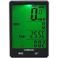 VGEBY1 Bicycle Odometer, 2.8 Inch LED Waterproof Bike Computer Cycling Stopwatch with Wireless Base Mount, Inductor, Magnet, Ribbons, Sponge Pad
