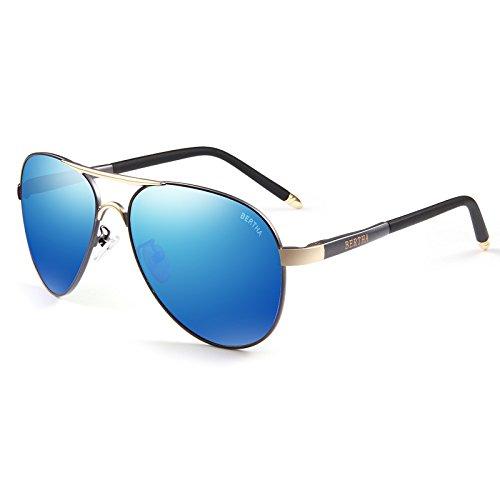 Moderne Himmel Sonnenbrille Coole Männer Blau Polarisierte Licht Linse Anti-UV polarisierte Licht Sonnenbrillen