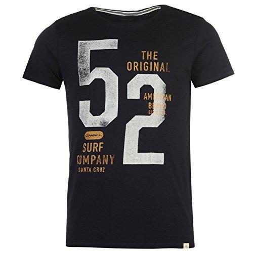 ONeill Herren Horizon T Shirt Kurzarm Rundhals Baumwolle Logo Freizeit Tintenblau