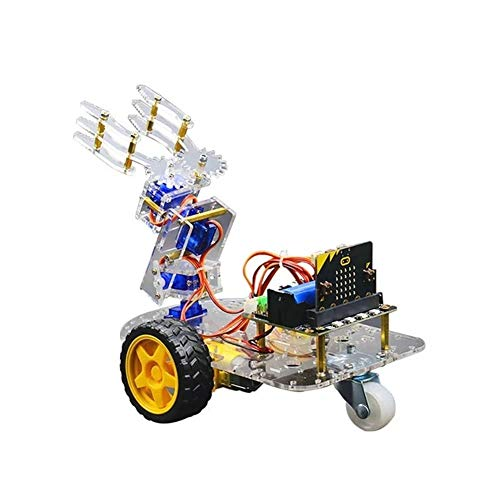 Yangxz Kit di Bracci for Braccio Robot Smart Bit Supporto STEM di Programmazione Grafica con Scheda Bit + Scheda di espansione Bit Robot,Pannello Solare