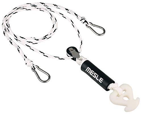 MESLE Schleppdreieck Pulley DLX 2 Personen, selbstzentrierend, Länge 305 cm, extra Schwimmer, Quick-Connect-Haken, schwarz-weiß, incl. Rope Keeper -