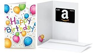 Amazon.de Geschenkkarte in Grußkarte - 20 EUR (Happy Birthday Ballons) (B00X67BPCQ)   Amazon price tracker / tracking, Amazon price history charts, Amazon price watches, Amazon price drop alerts