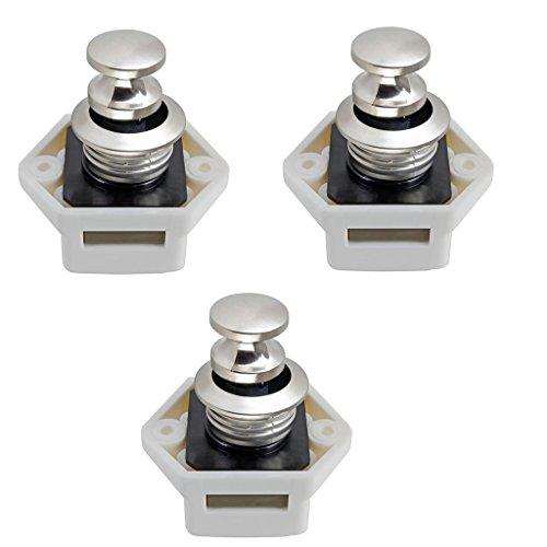 F Fityle 3 Stück 15-20mm Push Lock Möbelschlosser Möbelgriff Schloss für Camping Boot Möbel Wohnwagen - Baby Lock Knopf