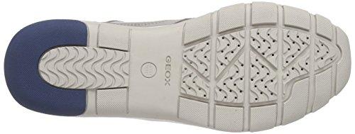 Geox D Kander A, Baskets Basses femme Gris - Gris clair (C1010)