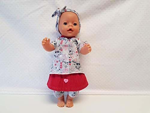 MepsiDesigns Handmade Puppenkleidung Set 4tlg für 43cm Baby Born NEU Kleidung & Accessoires