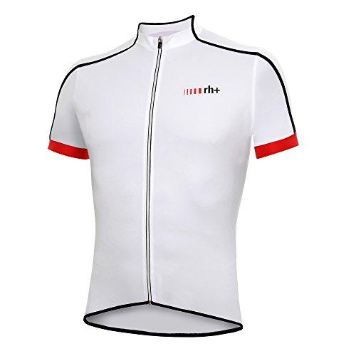 zero rh+ Herren Fahrradtriko Prime Jersey FZ, White/Red, XXL, ECU01480032XL