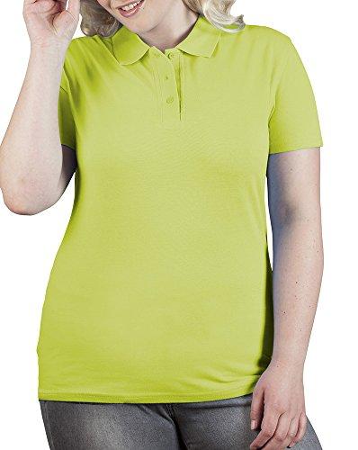 Polo femme haute qualité vert lime sauvage
