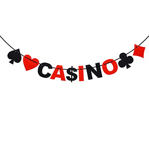 (LUOEM 3M Casino Spielkarten Banner Poker Party Hängende Dekoration)