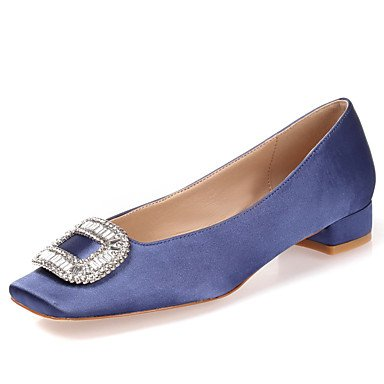 Talloni delle donne Estate Autunno Inverno Dress Altro seta Wedding Outdoor ufficio & carriera Party & Sera casuale tacco basso Chunky HeelRhinestone Royal Blue