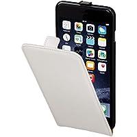 Hama Flip Case (für Apple iPhone 6 Plus (5,5) Tasche, maßgefertigte Schutzhülle mit Magnetverschluss) weiß